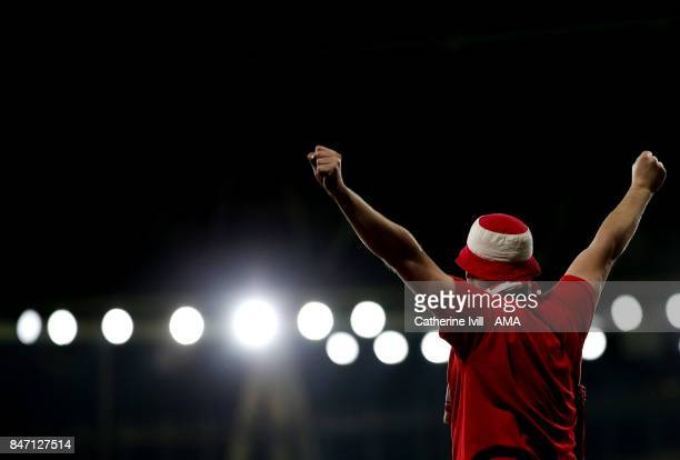 General view of a FC Koln fan during the UEFA Europa League group H match between Arsenal FC and 1 FC Koeln at Emirates Stadium on September 14 2017...