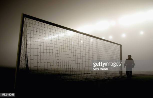 A general view of a foggy pitch before the Barclays Premiership match between Birmingham City and Bolton Wanderers at St Andrews on November 21 2005...