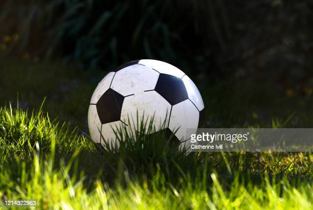 General view of a football on March 23 2020 in Aylesbury England Coronavirus pandemic has spread to at least 182 countries claiming over 10000 lives...