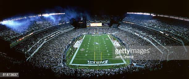 General view of a full Lincoln Financial Field as the Philadelphia Eagles and the Tampa Bay Buccaneers prepare for the opening kickoff during a game...