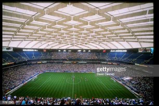 General view of a game between England and Germany at the Pontiac Silverdome in Detroit Michigan Germany won the game 21
