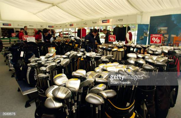 General view of a golf shop taken during the final round of The SAP Deutsche Bank Open held on May 18 2003 at The Gut Kaden Golf Club in Hamburg...
