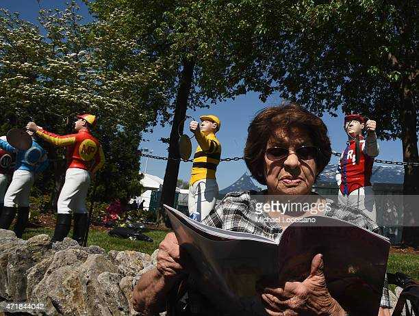 A general view of a guest attending Kentucky Oaks Day during the 141st Kentucky Derby on May 1 2015 at Churchill Downs in Louisville Kentucky
