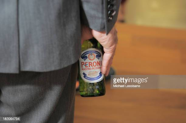 General view of a guest drinking Peroni during the opening reception of Meet The Architects and City Modern presented by New York and Dwell Magazines...