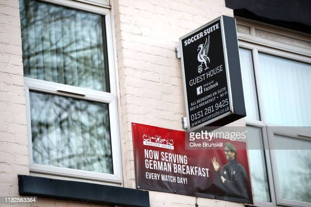 General view of a guest house near to the stadium prior to the Premier League match between Liverpool FC and Watford FC at Anfield on February 27...