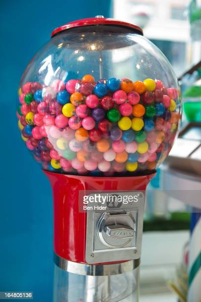 A general view of a gumball machine at the Alli Simpson Signature Nail Series Launch Event at Dylan's Candy Bar on March 28 2013 in New York New York