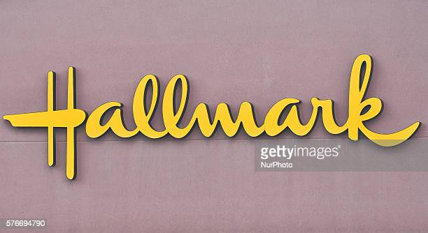 A general view of a Hallmark Cards logo seen in South Edmonton Common a retail power centre located in Edmonton Alberta The flagship shopping complex...