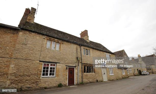 General view of a house in Bampton Village in Oxfordshire which is transformed into the 'The Dog and Duck' Pub when filming of Downton Abbey takes...