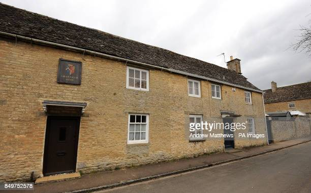 General view of a house in Bampton Village in Oxfordshire which is transformed into the 'Grantham Arms' when filming of Downton Abbey takes place in...