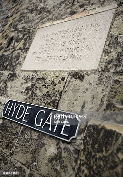 A general view of a Hyde Gate opposite St Bartholomew Church where Alfred The Great is believed to be buried on February 6 2013 in Winchester England...