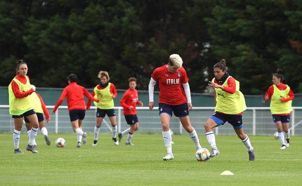 FRA: Italy Women Training Session: FIFA Women's World Cup France 2019