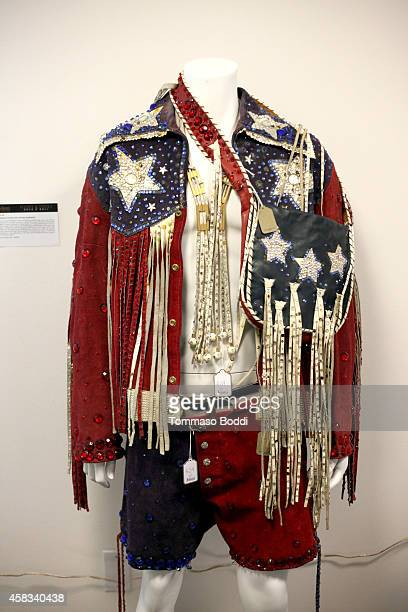 A general view of a jacket worn by Liberace at the Julien's auctions media preview for Icons Idols Rock N' Roll event held at Juliens Auctions on...