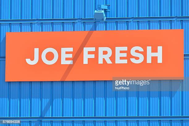 A general view of a Joe Freshe shop logo seen in South Edmonton Common a retail power centre located in Edmonton Alberta The flagship shopping...