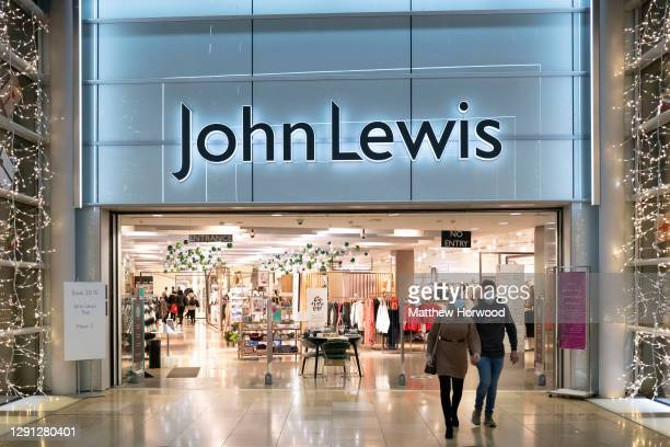 General view of a John Lewis store on December 14, 2020 in Cardiff, Wales. Many UK businesses are announcing job losses due to the effects of the...