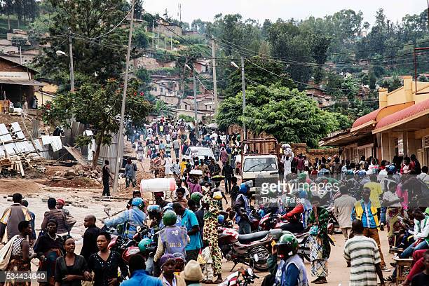 A general view of a Kigali popular district Kigali with a population of more than one million is Rwandas capital and main city The city is built on a...
