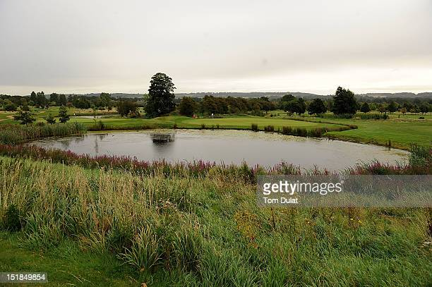 General view of a lake by 8th green during the PGA Super 60's Tournament at the De Vere Belton Woods Golf Club on September 12 2012 in Grantham...