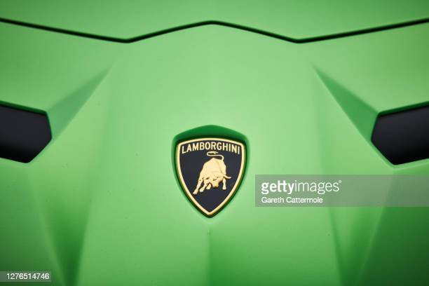 General view of a Lamborghini car during the Salon Privé Ladies' Day at Blenheim Palace on September 24, 2020 in Woodstock, England. 21 new luxury...