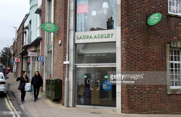 A general view of a Laura Ashley fashion store on March 17 2020 in Dorchester United Kingdom The fashion chain Laura Ashley has filed for...