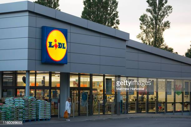 General view of a Lidl store sign on July 4, 2019 in Cardiff, United Kingdom.