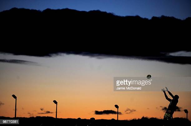 A general view of a line out during the Amlin Challenge Cup SemiFinal match between Connacht and Toulon at the Sports Ground on April 30 2010 in...