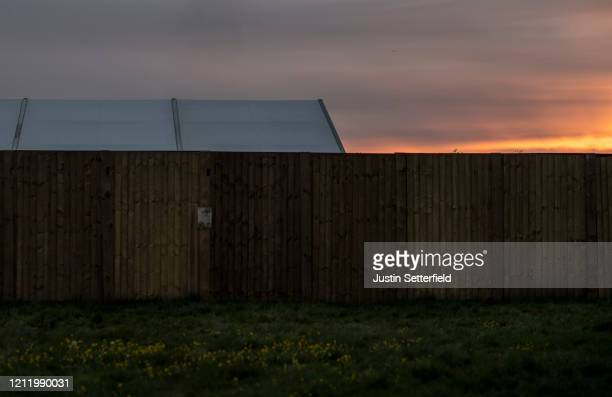 A general view of a makeshift morgue on Wanstead Flats on April 29 2020 in London England As the UK reports the highest number of Covid19 deaths in...