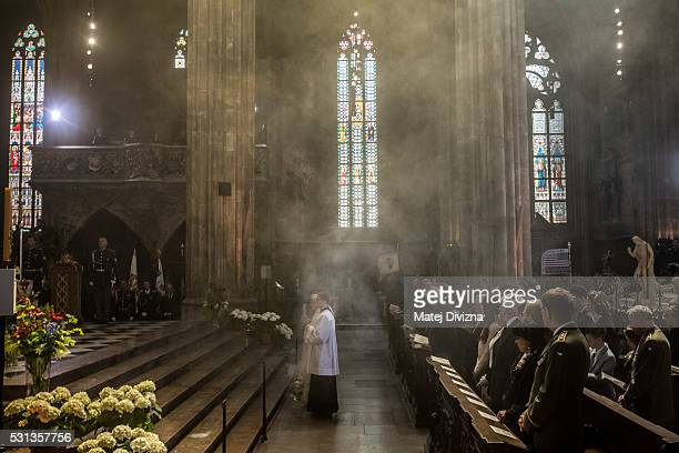 General view of a mass on the occasion of the 700th anniversary of the birth of Emperor and King Charles IV celebrating by Prague Archbishop Cardinal...