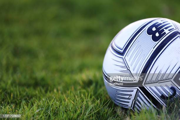 General view of a match ball\during the Vanarama National League match between Hartlepool United and Eastleigh at Victoria Park, Hartlepool on...