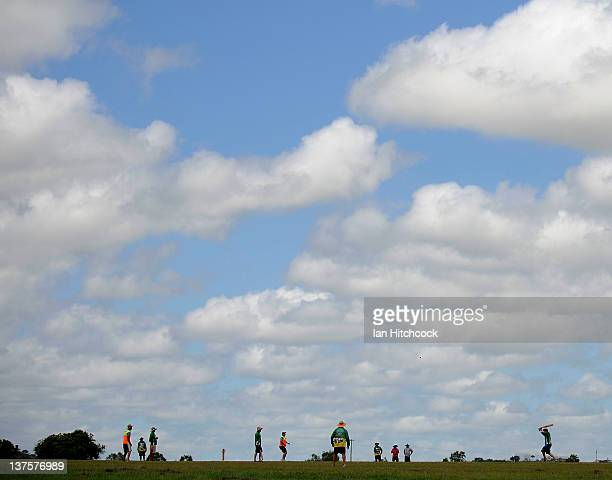 A general view of a match being played during the 2012 Goldfield Ashes cricket competition on January 22 2012 in Charters Towers Australia Every year...