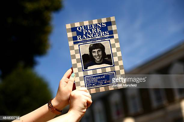 A general view of a match programme featuring a picture of Stan Bowles ahead of the Sky Bet Championship match between Queens Park Rangers and...