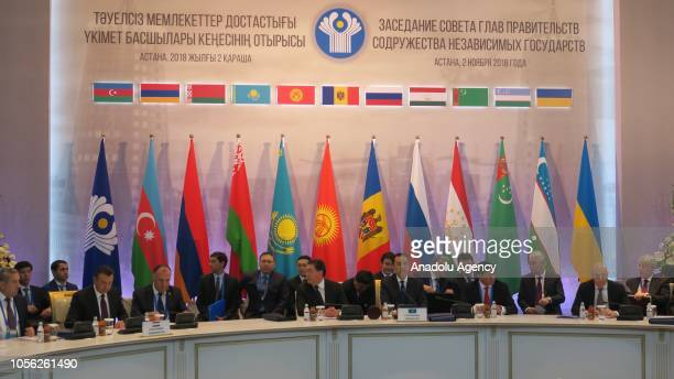 A general view of a meeting of the CIS Council of Prime Ministers in Astana Kazakhstan on November 02 2018 Member countries signed cooperation...