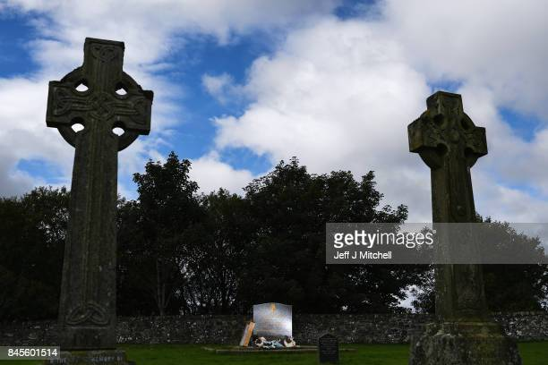 A general view of a memorial stone in St Marys Cemetery to remember those who died at Smyllum Park Orphanage on Septemebr 11 2017 in Lanark Scotland...