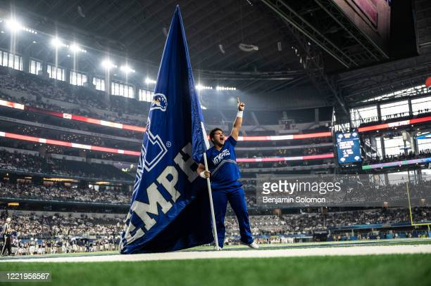 A general view of a Memphis Tigers cheerleader during the Goodyear Cotton Bowl Classic at ATT Stadium on December 28 2019 in Arlington Texas