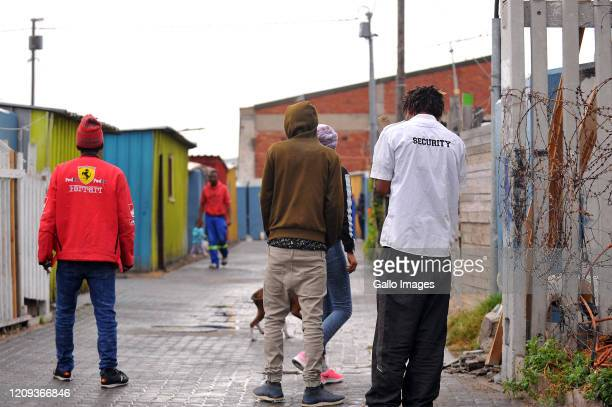 A general view of a men loitering on Day Twelve of National Lockdown on April 07 2020 in Cape Town South Africa According to media reports President...