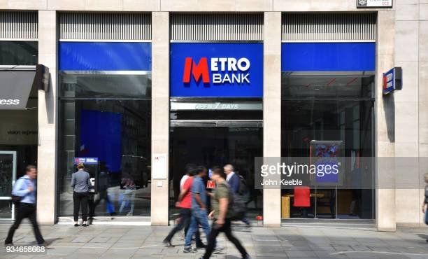 General view of a Metro Bank branch on Cheapside on August 25, 2017 in London, England.