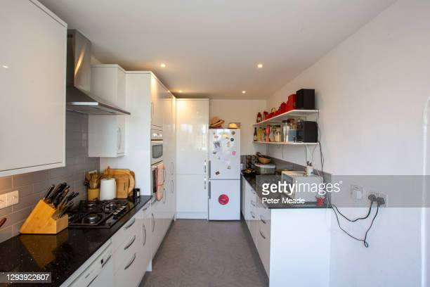 a general view of a modern domestic kitchen - general view stock pictures, royalty-free photos & images
