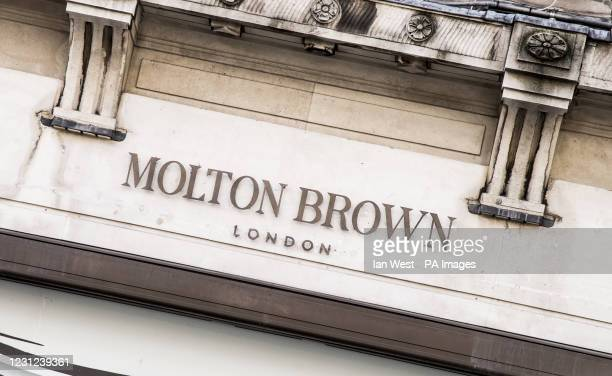 General View of a Molton Brown store in London.