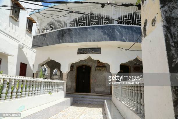 A general view of a Mosque where armed men allegedly took shelter last week is seen in the Medina of Mutsamudu on October 22 2018 on the Comoros...