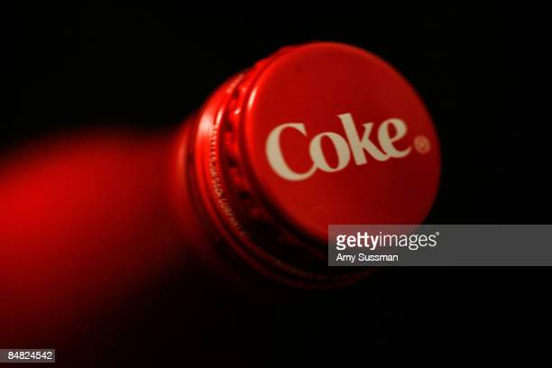 A general view of a new CocaCola aluminum bottle during MercedesBenz Fashion Week Fall 2009 at Bryant Park on February 16 2009 in New York City