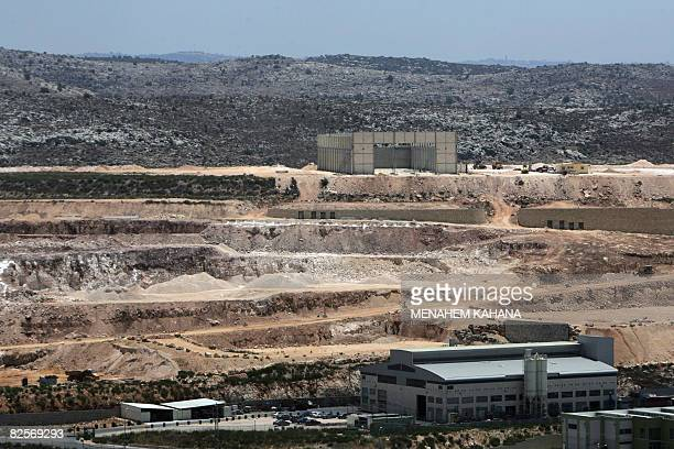 A general view of a new Israeli industrial structure near the Jewish settlement of Ariel in the occupied West Bank on July 14 2008 Israel has...