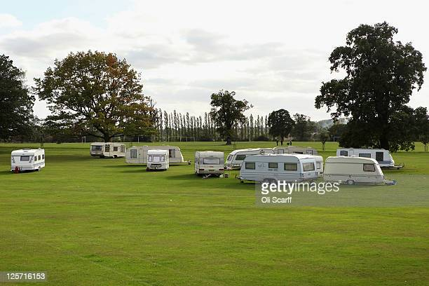 A general view of a newlyformed travellers encampment in Stockwood Park on September 21 2011 in Luton England Some of the travellers who began...