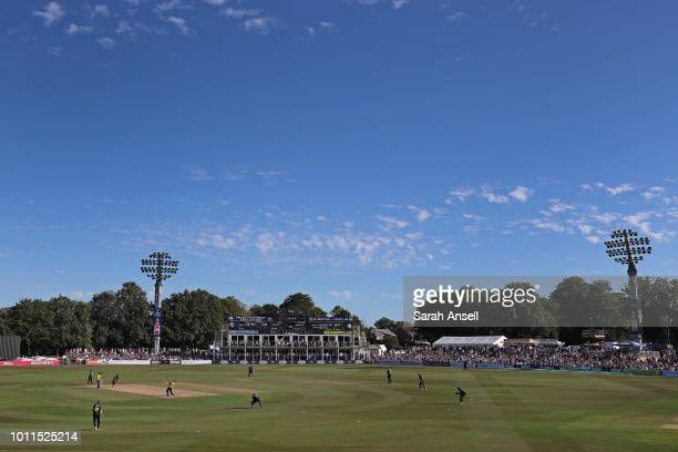 A general view of a packed Spitfires Ground St Lawrence during the Vitality Blast match between Kent Spitfires and Gloucestershire at The Spitfire...