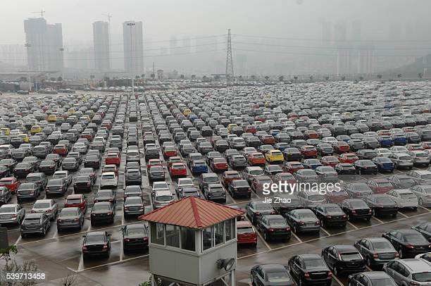 A general view of a park where are parking lot of Changan Ford Mazda Automobile Co Ltd Ford Motor's joint venture in China in Chongqing Municipality...