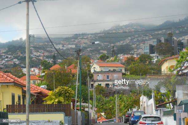 A general view of a part of Santo Antonio and surroundings a parish in the northeastern part of Funchal on the island of Madeira where Portuguese...