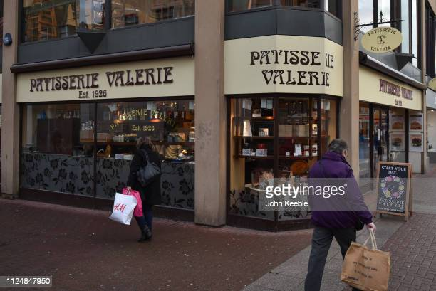 A general view of a Patisserie Valerie cafe in the high street on January 25 2019 in Southend on Sea England