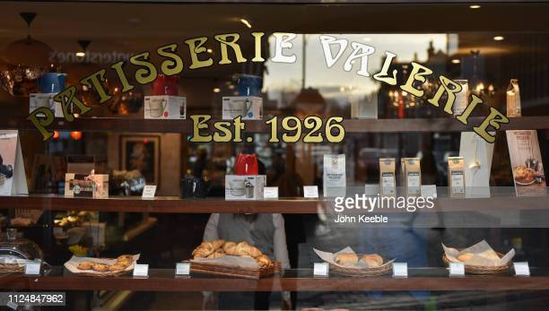 A general view of a Patisserie Valerie cafe window in the high street on January 25 2019 in Southend on Sea England