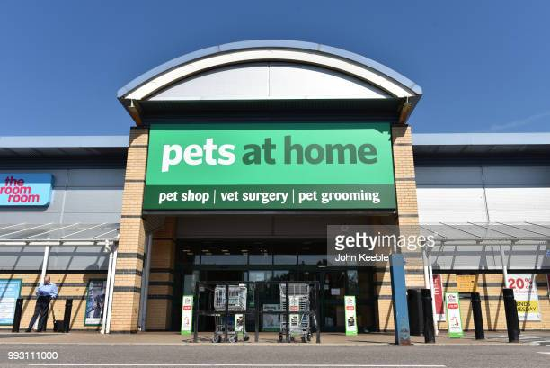 General view of a Pets at Home pet shop, vet surgery and pet grooming retail outlet store on July 3, 2018 in Southend on Sea, England.
