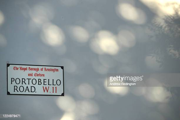 General view of a Portobello Road street sign on May 15, 2020 in the Notting Hill area of London, England. The prime minister announced the general...