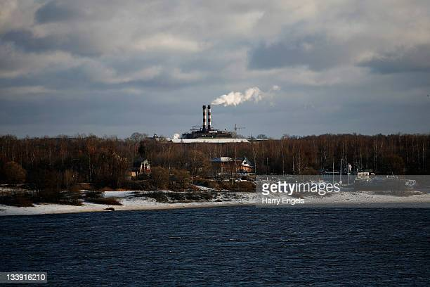 A general view of a power station across the river Volga on November 15 2011 in Yaroslavl Russia Yaroslavl is one of thirteen cities proposed as a...