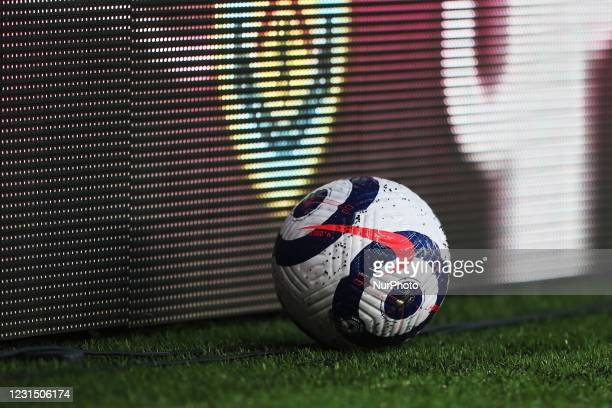 General view of a Premier League match ball during the Premier League match between Burnley and Leicester City at Turf Moor, Burnley on Wednesday 3rd...