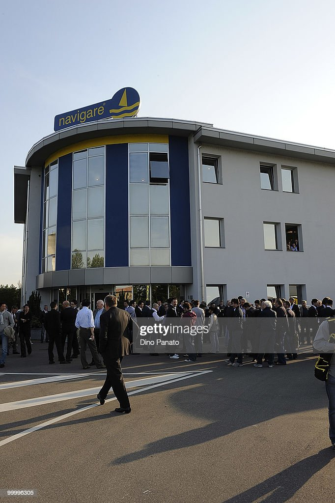 A general view of a press conference as Parma FC and Navigare announce the renewal of their sponsorship deal on May 19, 2010 in Rio Saliceto near Carpi, Italy.